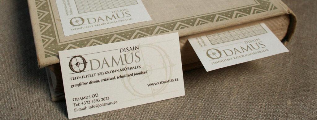 Odamus Disain: keskkonnasõbralikud trükised, visiitkaardid
