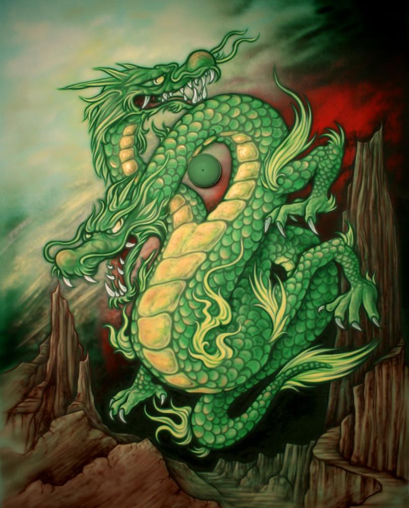 Odamus Disain: seinamaal draakon