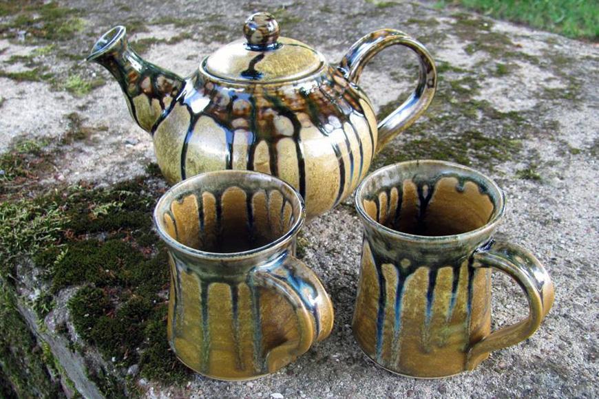 Odamus Disain: kingitus käsitöö keraamika teekann