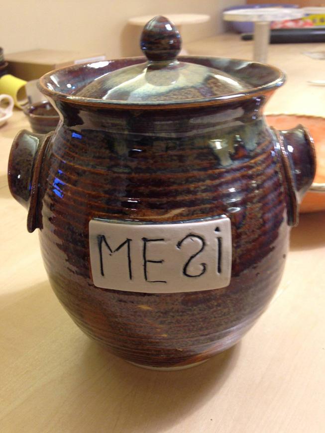 Odamus Disain: kingitus käsitöö keraamika meepurk
