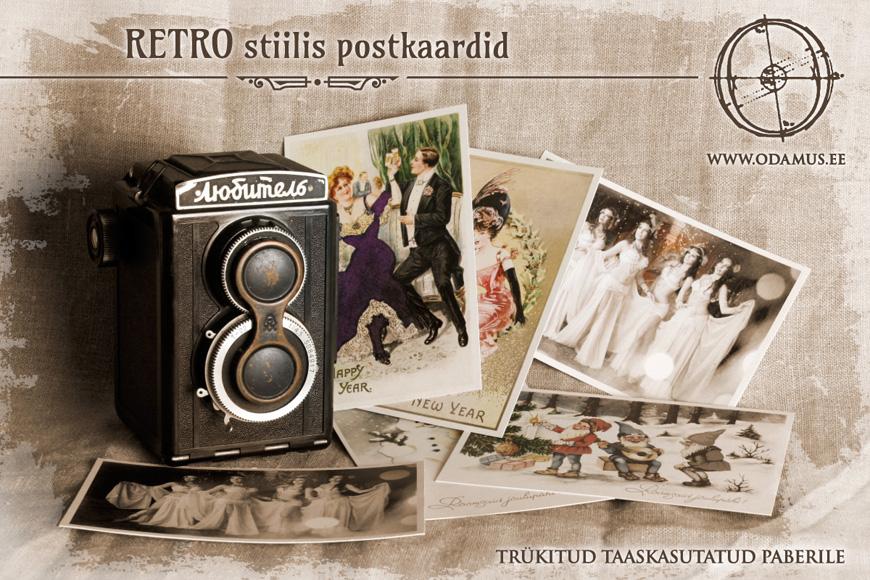 odamus Disain: Retro stiilis postkaardid