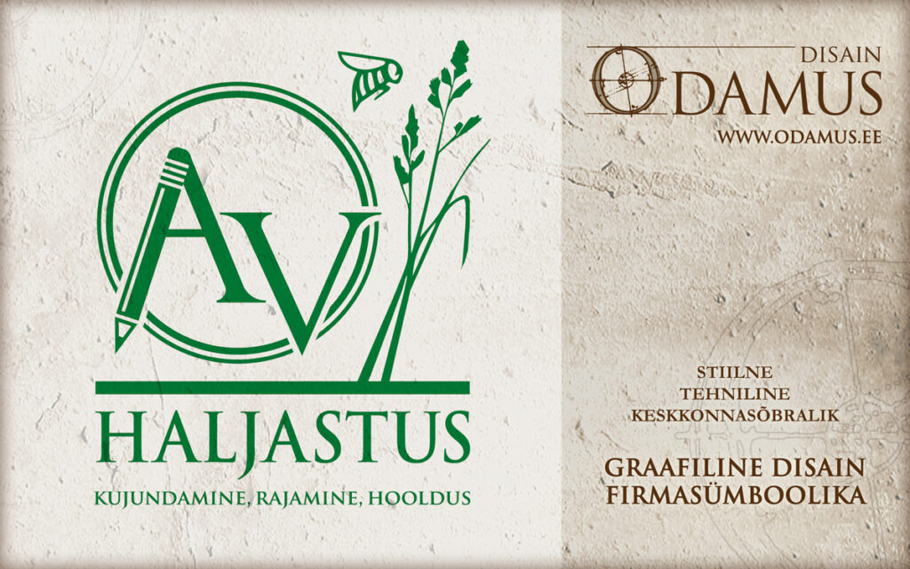 Odamus Disain: Logo kujundus Ave Viigand Haljastus