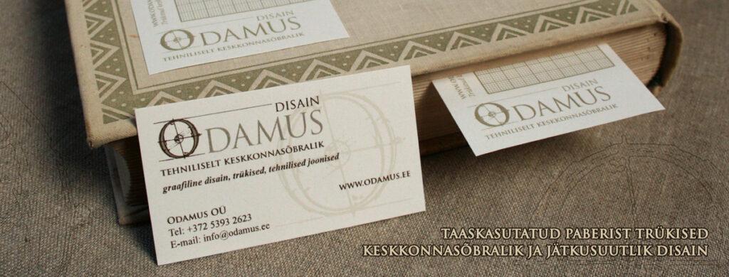 Odamus Disain: Taaskasutatud paberist trükised, keskkonnasõbralik ja jätkusuutlik disain