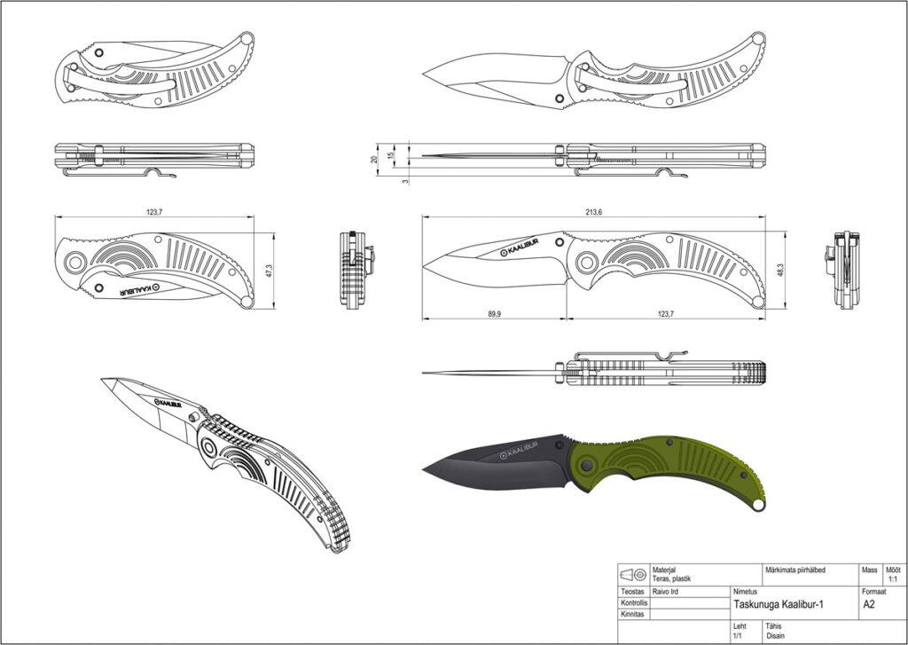 Odamus Disain: Nuga Kaalibur-1 MIL tehniline joonis disain
