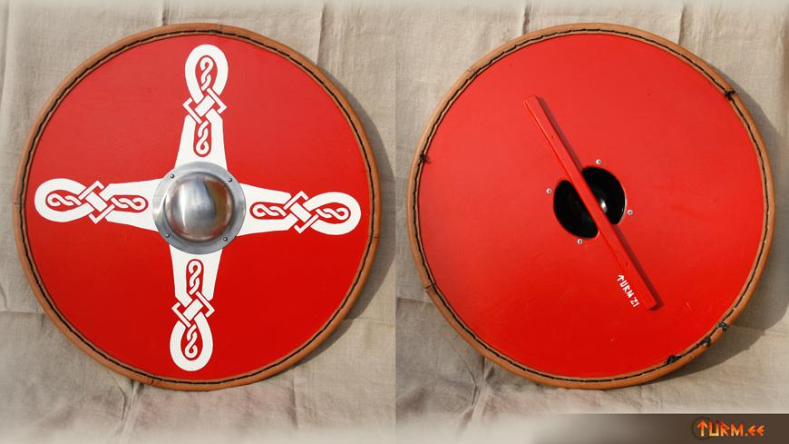 Viikingikilp punane väike