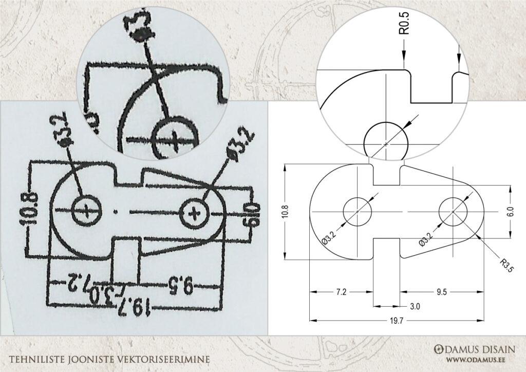 Odamus OÜ: Tehniliste jooniste vektoriseerimine